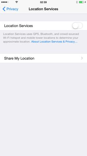 iPhone Turning GPS on