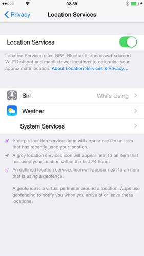 iPhone - Turning GPS on 2