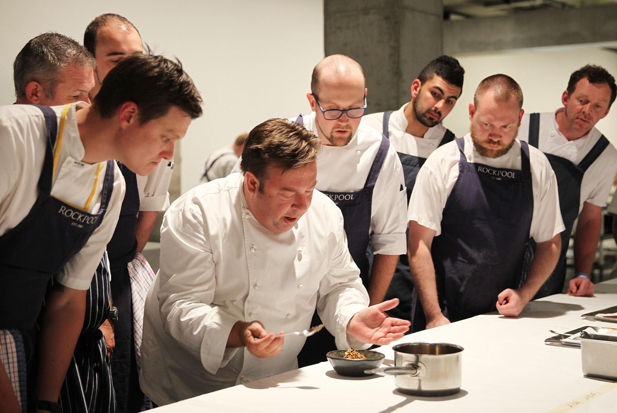 Tourism Australia's Chefs making a dish