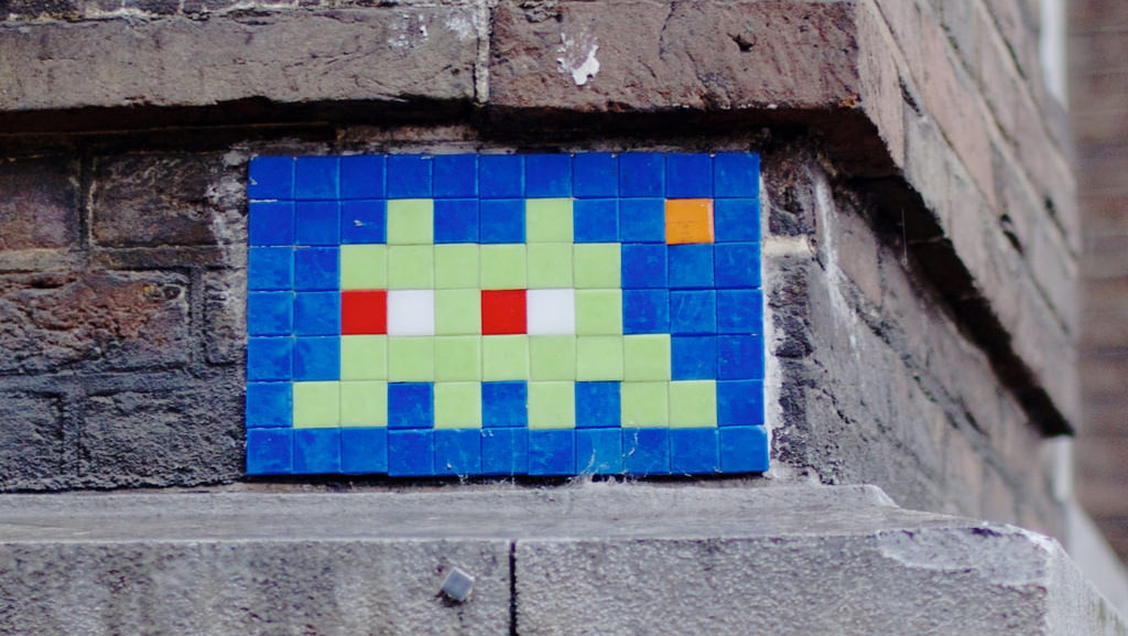Street Art by the French artist Invader