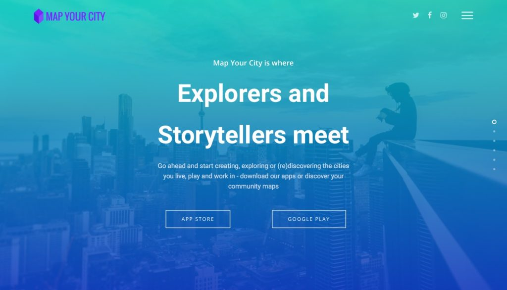 Map landing pages and blogposts